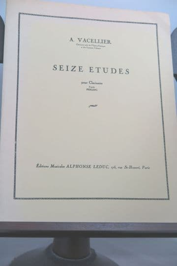 Vacellier A - 16 Etudes for Clarinet after Ferling